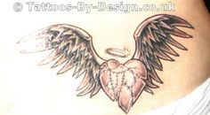black angel wing with broken halo tattoos | Tattoo of Mended Angel