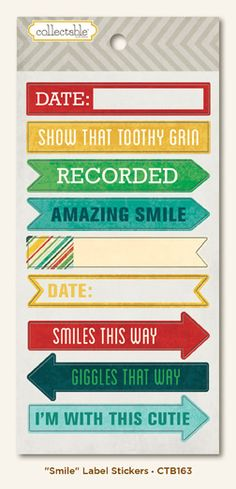 """MME Remarkable """"Smile"""" Label stickers"""