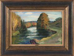 René SEYSSAUD (1867-1952) La Sorgue Huile sur toile Signée en bas à droite 27 x 41 cm - Leclere - Maison de ventes - 14/10/2017