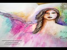 journal d'artiste * Inktense + gesso * art journaling - YouTube