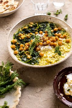 Persian Herb and Chickpea Stew with Rice - Baking and Cooking - Essen Veggie Recipes, Whole Food Recipes, Soup Recipes, Vegetarian Recipes, Cooking Recipes, Healthy Recipes, Healthy Soup, Dinner Healthy, Health Food Recipes