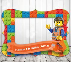 Lego Photo booth prop frame