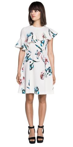 Discover the latest women's dresses from the new Cue collection. Shop our range of black dresses, evening dresses, floral dresses, casual dresses and… Cue Clothing, Australian Clothing, Buy Dresses Online, Ruffle Dress, Orchids, Evening Dresses, Casual Dresses, Cold Shoulder Dress, Watercolour