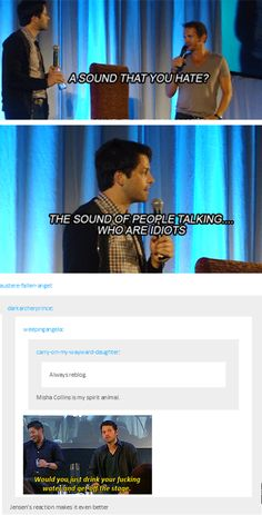 Supernatural / Misha Collins: Oh my God!  I hate that sound too!