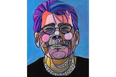 50% Off - Stephen King Portrait Art Poster Print of painting by Heather Galler Writer Author