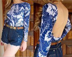 body-estampado-azul-maio-maiô-mangas-longas-bojo-decote-costas-comprar
