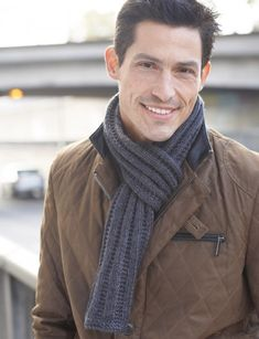 Men's Interchangeable Knit Scarves - Patterns | Yarnspirations