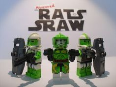 Lego Star Wars minifigures - Clone Custom Troopers - Commander Doom set