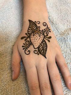 "Strawberry fields forever by ""z"" face & body art mehndi art, henna mehndi"