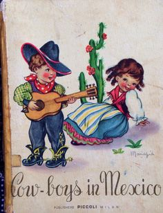 1949 COWBOYS in MEXICO illustrated by MARIAPIA on Etsy, $11.51 AUD