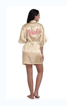 sexy champagne robe bride kimono satin robe women Bathrobe wedding robe  sister mother of the bride 8b5e9f4a6