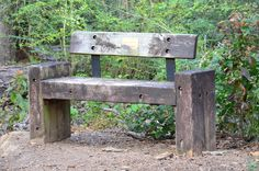 Old Bench Made With Railroad Ties - Copyright www.ArtandDesignMatters.com