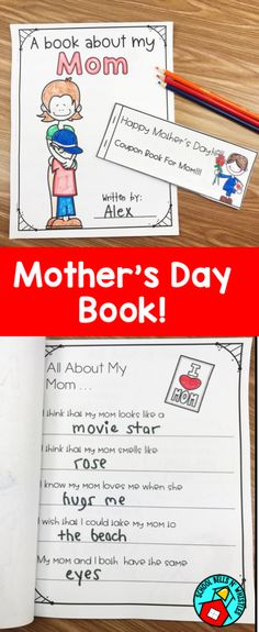Easy to use Mother's Day craft book and   coupons. Mom's will love reading about themselves. Includes pages for grandmother.