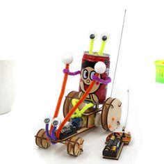 Shopping DIY Educational Electric Jumper Robot Car Kit Scientific Invention Toys Online - RCBuying Sierra Leone, Seychelles, Belize, Uganda, Robot Kits, Rc Robot, Sri Lanka, Nepal, Mauritius