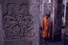 Inside the beautiful Angkor Wat mega-complex, shot by Steve McCurry.