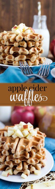 Apple Cider Waffles - JenniferMeyering.com