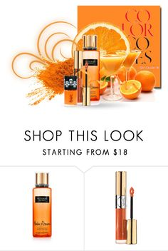 """Orange You Glad - Beauty"" by erina-i ❤ liked on Polyvore featuring beauty, Victoria's Secret and Yves Saint Laurent"