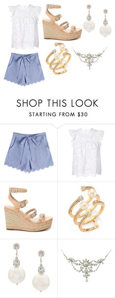 """""""The Only Diva"""" by gineskaplaza on Polyvore featuring moda, Zimmermann, Charles by Charles David, Hueb y Simone Rocha"""