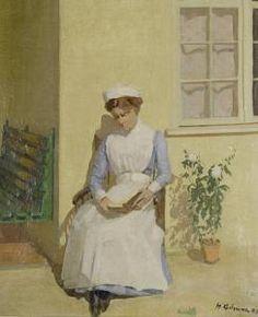 The Nurse - Harold Gilman (British, 1876-1919) Camden Town Group Painter
