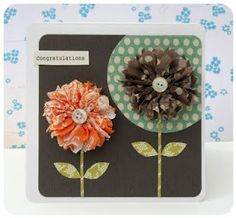 tissue flower card