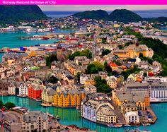 Birdseye of City in Norway  COOLEST PLACES IN THE WORLD