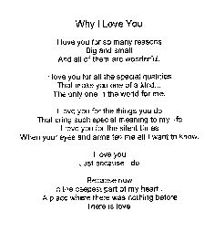 Why I Love You....  I love You for YOU!