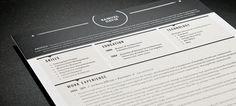 Resume Template | Stars Black – Loft Resumes