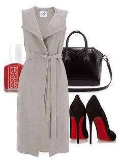 """""""Jacket as a dress"""" by cnmillz ❤ liked on Polyvore featuring Christian Louboutin, Essie, Givenchy and Wallis"""