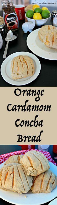 Orange Cardamom Concha Bread (Pan Dulce) ~ Traditional Mexican concha ...