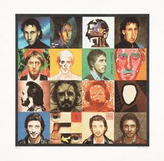 Artwork page for 'Illustration to the cover of 'Face Dances'', Peter Blake, 1981 Peter Blake, Music Album Covers, Music Albums, Music Books, Collages, Tom Phillips, The Quiet Ones, Pochette Album, David Hockney