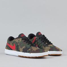 Nike SB Free Shoes Premium QS - Fortress Green / Gym Red / Black | Flatspot