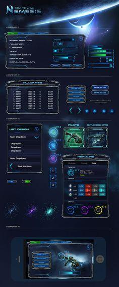 Sci Fi Game UI