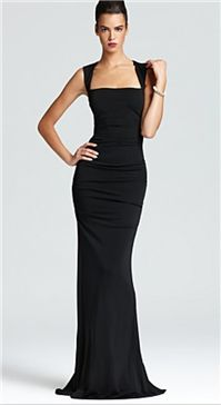 """Nicole Miller - Sleeveless Stretch Gown: It's one of those great """"keep in your closet & then be elated that you have it when you need it"""" dresses."""