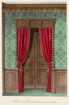 Plate number: L. 64 Pl. 180 Type: Floor Plans  : Interior Elevations : Doors  Style: Renaissance Revival  Enlarge Image