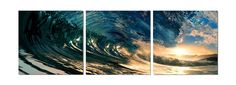 3-Piece The Wave Graphic Art Set