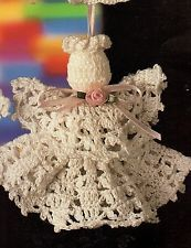 crochet angel ornament | Vintage Angel Sachets Crochet Patterns Christmas Ornaments Annies ...