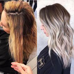"21.8k Likes, 325 Comments - OLAPLEX (@olaplex) on Instagram: ""Icy Blonde Balayage | Transformation by @saramay_24 with Olaplex to keep the hair healthy. ❄️…"""