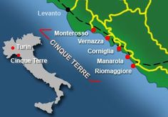 The five villages of Cinque Terre