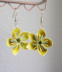 Beautiful origami flower earrings!