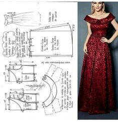 Long dress pattern size - Her Crochet Sewing Patterns Free, Clothing Patterns, Simple Short Dresses, Costura Fashion, Dress Making Patterns, Skirt Tutorial, Fashion Sewing, Moda Fashion, Sewing Clothes