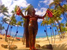 duke Kahanamoku statue in waikiki Waikiki Beach, Duke, Statue, Sculpture, Peacocks, Sculptures