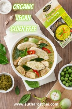 Make Thai Green Curry in one pot with these Sutharos meal kits. Make authentic Thai food in 10 minutes by adding your favorite proteins and veggies. It even comes with organic coconut milk so you don't have to but extra stuff! Thai Green Curry Recipes, Thai Green Curry Paste, Thai Recipes, Authentic Thai Food, Organic Coconut Milk, Fresh Rolls, Make It Simple, Veggies, Vegetarian