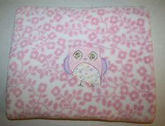 "Target Circo Pink Owl Baby Blanket Floral Flower Plush Lovey Security 28"" x 40"" #Circo"