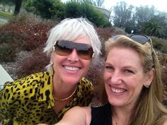Margi Peterson and Tracey Bauer at the De Young Bvlgari exhibit. Wearing BV sunglasses and jewelry.