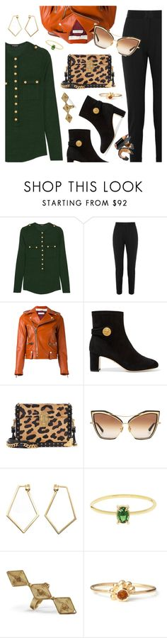 """""""Outfit of the Day"""" by dressedbyrose ❤ liked on Polyvore featuring Balmain, Alexander Wang, Golden Goose, Dolce&Gabbana, Prada, Dita, Dutch Basics, Love Is, Vanilo and Maro"""