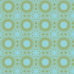 Blend - Geometriska Modern Michella Blue - cotton fabric