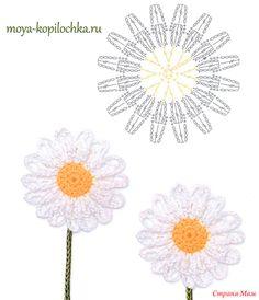 Вязаные цветы. 100 цветочных мотивов для вязания крючком со схемами.