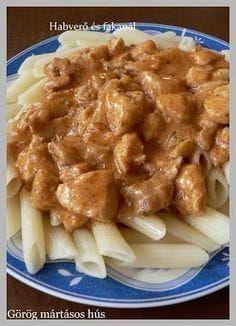 Görög mártásos hús Meat Recipes, Chicken Recipes, Snack Recipes, Cooking Recipes, Greece Food, Eastern European Recipes, Weekday Meals, Hungarian Recipes, Food 52