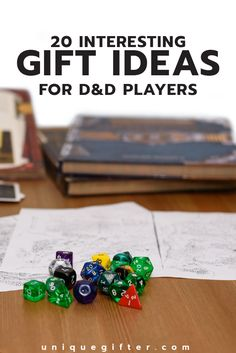 Gift Ideas for D&D Players   Dungeons and Dragons   Gamers   Birthday Gifts   Christmas Presents   Fun Gamer Gifts