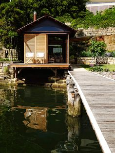 The Boathouse: a new definition to lakefront living! Lakefront Property, Waterfront Homes, Rustic Design, The Great Outdoors, Ideal Home, Cottage, Boathouse, House Styles, Inspire